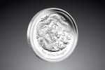1/2 Oz Australian Lunar Dragon (drak) 2012  / Striebro / 999/1000