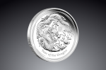 2 Oz Australian Lunar Dragon (drak) 2012 Ø 55,60 ×  2,6 mm / Striebro / 999/1000